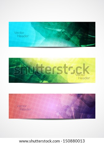 set of abstract beautiful web header/banner designs. vector illustration