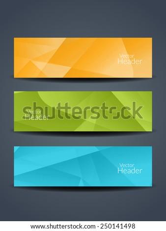 Set of abstract beautiful web header/banner designs. vector illustration  - stock vector