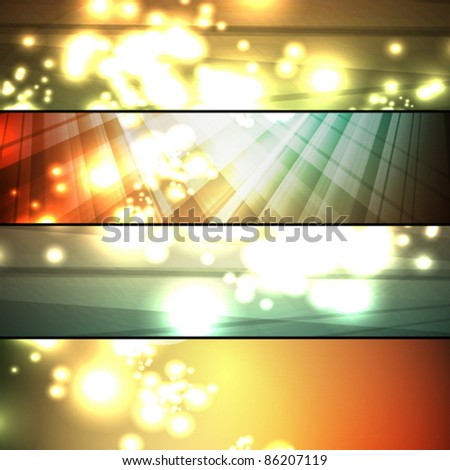 set of abstract frames - stock vector