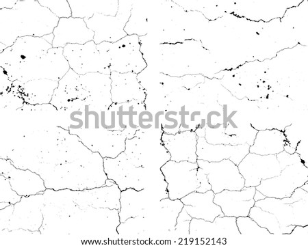Set of abstract grunge black and white texture. Distressed texture.Cracked texture. Scratch texture. Vector design illustration.