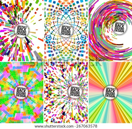 Set of abstract mixed backgrounds and brochure cover templates - stock vector