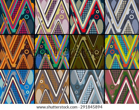 set of abstract modern background. vector illustration eps10 - stock vector