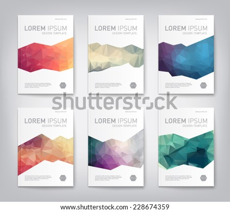 Set abstract modern cover report brochure stock vector for Modern cleaning concept