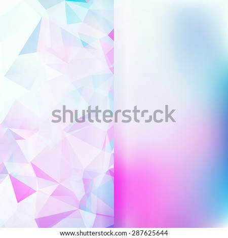 Set of abstract polygon triangles and blurred smooth backgrounds EPS10 - stock vector