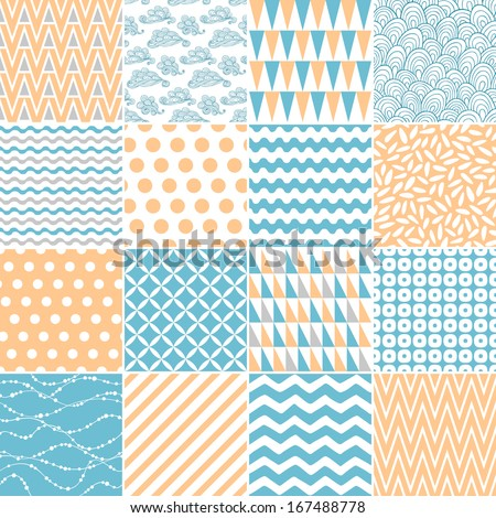 Set of abstract seamless patterns - stock vector