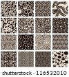 Set of abstract seamless patterns black and white - floral backgrounds - stock vector
