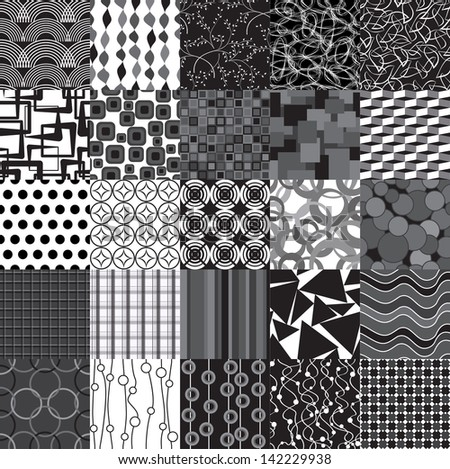 set of abstract seamless patterns can be used for wallpaper, website background, textile printing - stock vector