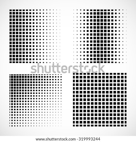 Set of abstract squares. Vector background - stock vector