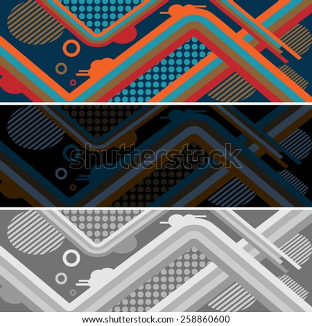 set of abstract style pattern for skateboard. vector illustration eps10 - stock vector
