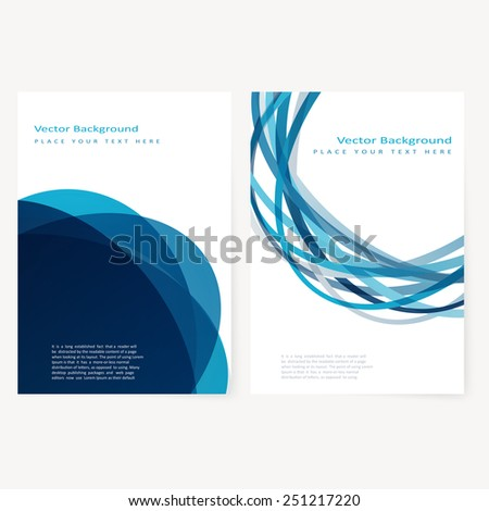 Set of abstract template flyer with color circles. Design element - stock vector