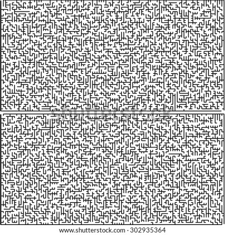 Set of abstract vector mazes of medium complexity