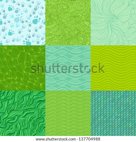 Set of abstract vector patterns