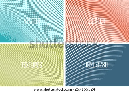 set of abstract vector screen texture - stock vector