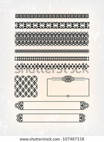 set of abstract victorian pattern