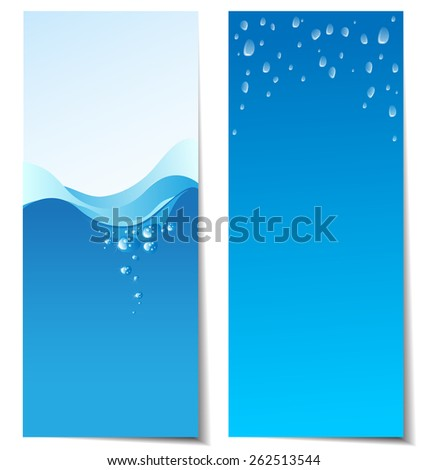 Set of abstract water banners for website - stock vector