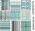 Set of abstract woven abstract marine  backgrounds - stock vector