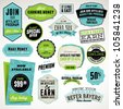 Set of affiliate and referral badges and stickers - stock photo