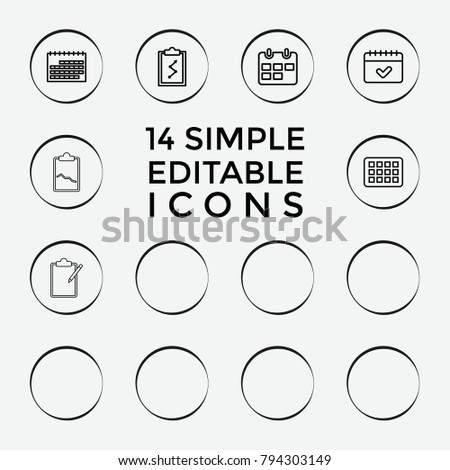 Set  Agenda Outline Icons Such Stock Vector   Shutterstock