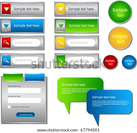 set of all web designing elements - stock vector