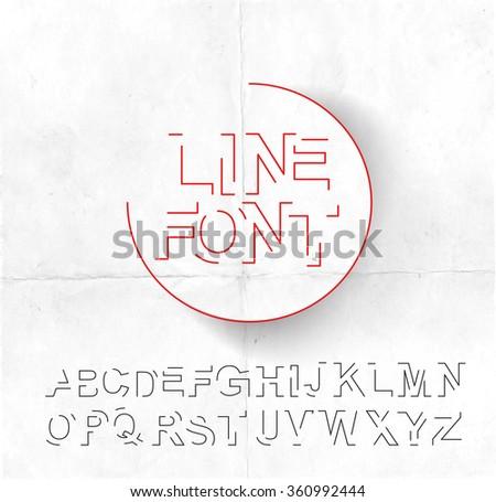 Set of Alphabet Text Design - stock vector