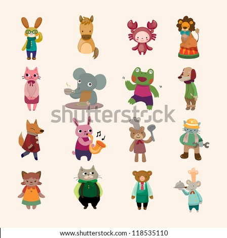 set of animal icon - stock vector