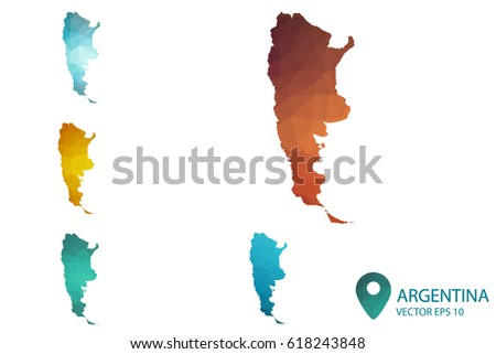 High Detailed Blue Map Argentina Vector Stock Vector - Argentina map vector free