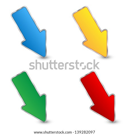 set of arrows on a white background