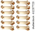 Set of 12 autumnal labels (eps10); jpg version also available - stock photo