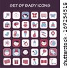 Set of baby icons - stock