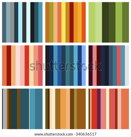 Set of background patterns - bands of different colors