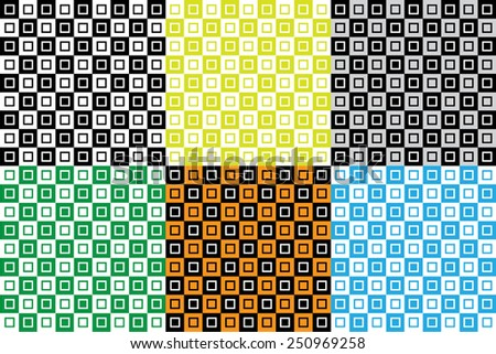 Set of background patterns : Colorful vector checkerboard with square tile patterns.
