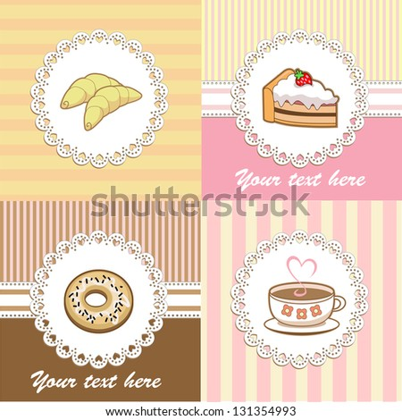 set of backgrounds for cafe (Vector)