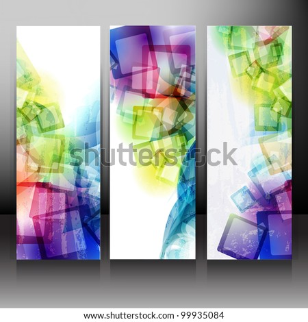 Set of Backgrounds. Vector eps10. - stock vector