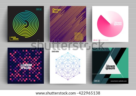 Set of backgrounds with trendy design. Applicable for Covers, Placards, Posters, Flyers and Banner Designs. - stock vector
