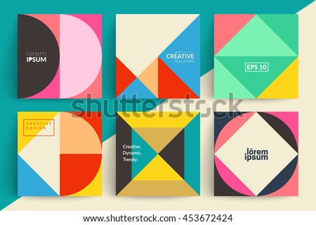 Set of backgrounds with trendy design. Applicable for Covers, Voucher, Posters, Flyers and Banner Designs. - stock vector