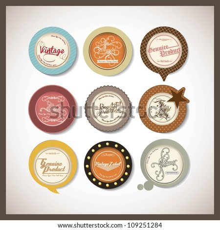 set of badge design - stock vector