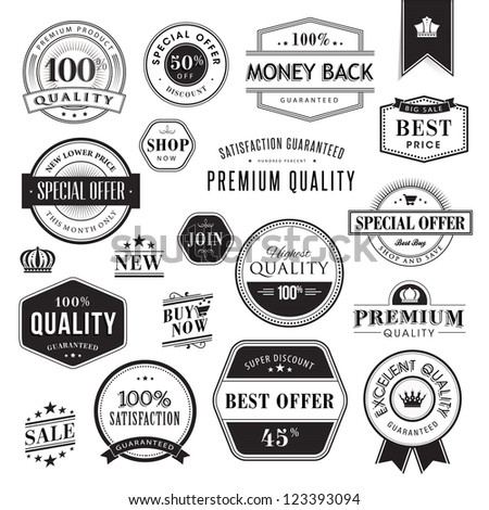 Set of badges and elements - stock vector