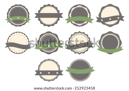 Set of badges, labels and logo template. Collection of design elements. Vector illustration - stock vector