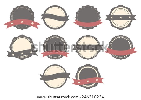 Set of badges, labels and logos. Set of design elements. Vector illustration - stock vector