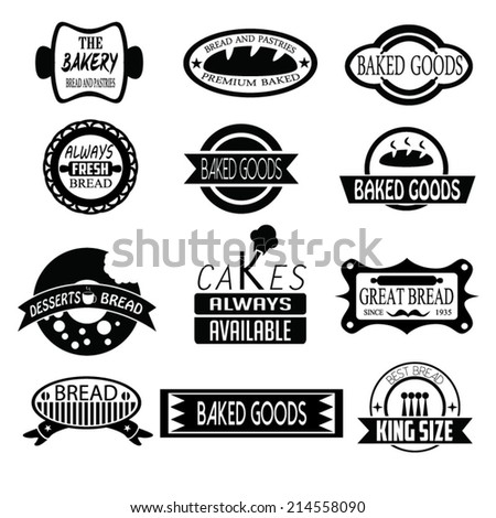 Set of  bakery badges, logos, and  labels