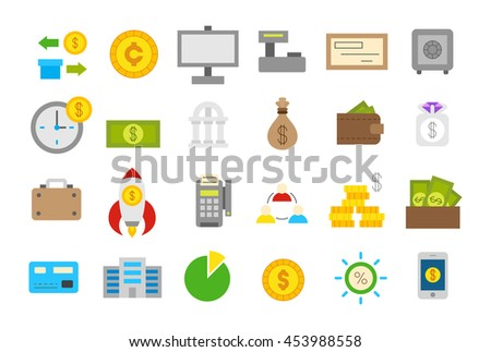 Set of 24 Banking isolated vector icons