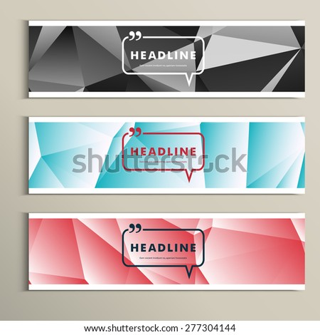 Set of banner for design in abstract style. - stock vector