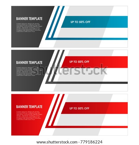 set of Banner template design abstract vector isolated background