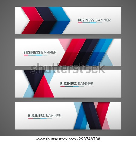 Set of banner templates. Bright modern abstract design. - stock vector