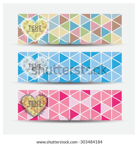 Set of banner templates with abstract background. Eps10 Vector  - stock vector