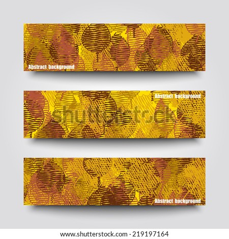 Set of banner templates with autumn background. Eps10 Vector illustration - stock vector