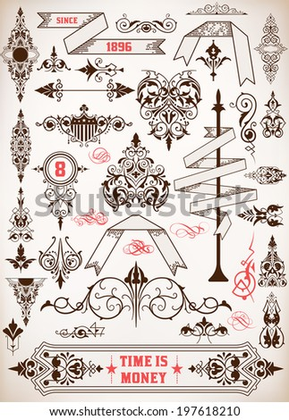 Set of banners and design elements - stock vector