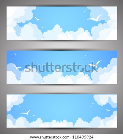Set of banners for a site. good weather - stock vector