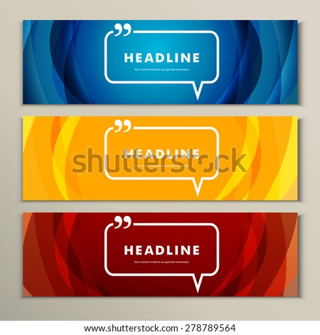 Set of banners for design in abstract style. - stock vector