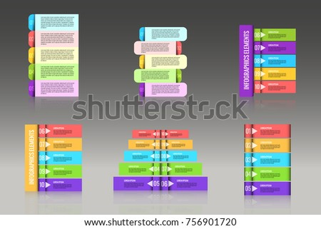 Set of banners for options. Business infographics element for web design. Stock vector